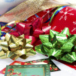 Wrapping it up for Christmas — Stok fotoğraf