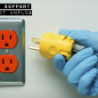 Pulling the Plug on Life Support — Stock Photo