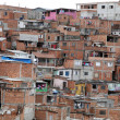 Slum, poverty in neighborhood of Sao Paulo - Stok fotoğraf