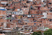 Slum, poverty in neighborhood of Sao Paulo — Stock Photo