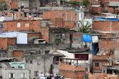 Slum, poverty in neighborhood of Sao Paulo — Stock Photo