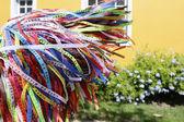 Brazilian wish ribbons — Stock Photo
