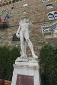 大卫雕像 — 图库照片