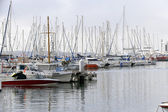 Yachts in the the harbor (Port Le Vieux) in Cannes, France — Stockfoto