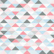 Retro pattern of geometric shapes. pastel colored triangles — Stock Vector