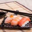 Mix sushi with salmon, smoked, roas — ストック写真