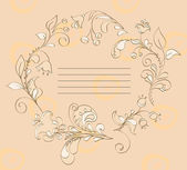 Floral frame for a signature — Stock Vector
