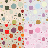 Vintage vector seamless pattern of circles — Stock Vector