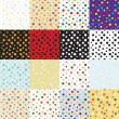 Big set of seamless pattern mini bubbles. — Stock vektor