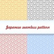 Japanese seamless pattern — Stock Vector