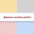 Stock Vector: Japanese seamless pattern
