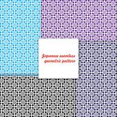 Japanese seamless geometric pattern. — Stock Vector