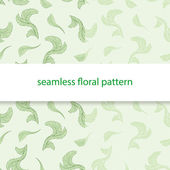 Seamless floral pattern green — Stock Vector