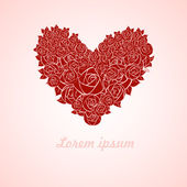 Red valentine heart — Stock Vector