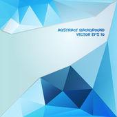 Modré a tmavě modré abstraktní geometrické pozadí — Stock vektor