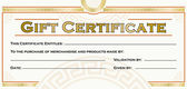 Gift certificate — Stockvector