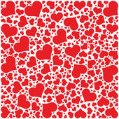 Hearts Pattern, Happy Valentines day — Stockvector