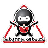 Baby Ninja on Board — Stock Vector