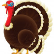 Stock Vector: Plump Thanksgiving Turkey