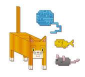 Square Cat — Stock Vector