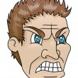Stock Vector: Angry Man