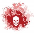 Bloody Skull — Stock Vector