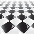 Checkerboard Perspective Background - Stock Vector