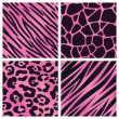 Pink Animal Print Collection — Stock Vector #24789657
