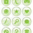 Green Spotted Action Buttons — Stock Vector #24798029