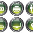 Green Device Buttons — Stock Vector