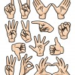 Royalty-Free Stock Vector Image: Hand Gesture Set