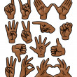 Hand Gesture Set — Stock Vector #24798255