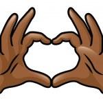 Hands Heart — Stock Vector