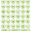 Royalty-Free Stock Vector Image: Green Spotted Buttons Collection