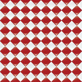 Red Checker Background — Stock Vector