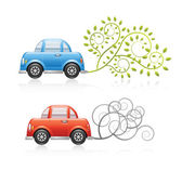 Eco and Pollution Car — Stock Vector