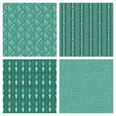 Elegant Teal Pattern Collection — Stock Vector