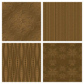 Elegant Sepia Background Collection — Stock Vector