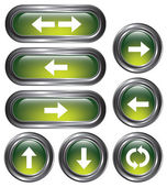Green Arrow Buttons — Stock Vector
