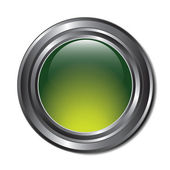Green Button — Stock Vector