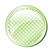 Green Spotted Button — Stock Vector