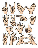 Hand Gesture Set — Stock Vector