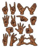 Hand Gesture Set — Stock Vector