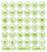 Green Spotted Buttons Collection — Stock Vector