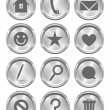 Metal Action Buttons — Stock Vector #24800861