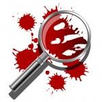 Forensic Illustration — Stock Vector