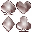 Playing Card Symbols — Stock Vector