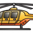 Rescue Helicopter — Stock Vector