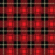 Red Plaid — Stock Vector