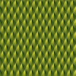 Green Reptile Skin Background — Stock Vector